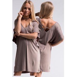 Dresses & Skirts - 💕GIT New! Mocha Dolman sleeve dress💕